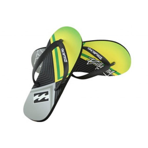 Billabong Prism Flip Flops in yellow