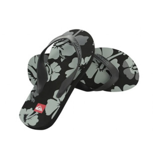 Quiksilver Flower Men's Flip Flops (Black)