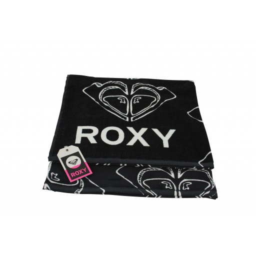 Roxy Logo True Black Towel