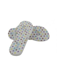 Animal Star Flip Flops (White)