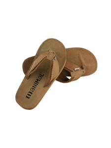 Animal Centro Leather Tan Flip Flops