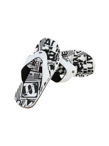 Animal Jekyl Black And White Mens Flip Flops