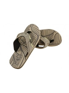 Animal AOP Mens Flip Flops (Cream)