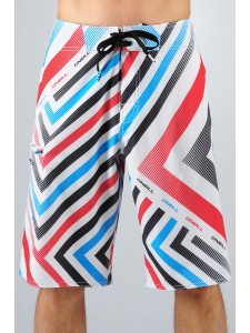 O'Neill Geo Epic Freak Board Shorts (White)