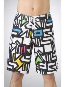 Quik Bleeker board shorts In White