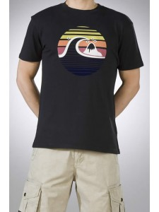 Quik Coastal Sun Tee In Black