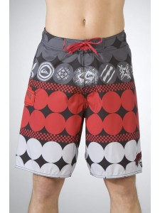 Quik Rocket Dog Shorts in Red
