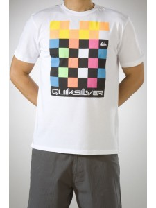 Quiksilver Floor Plan T Shirt in White