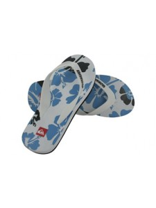 Quiksilver Flower Men's Flip Flops (White)