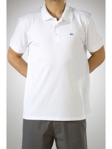 Quiksilver Push It Polo Shirt in White