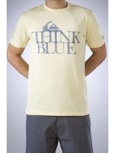Quiksilver Think Blue t shirt In Pale Yellow