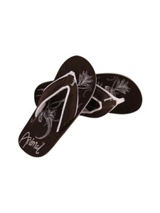 Animal Swish Soft Flip Flops In Brown