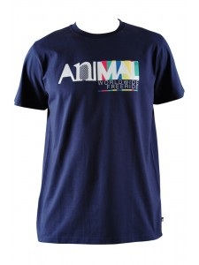 Animal Harwood Men's T Shirt In Navy (Front)