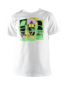 Animal Hilary Men's T Shirt In White (Front)