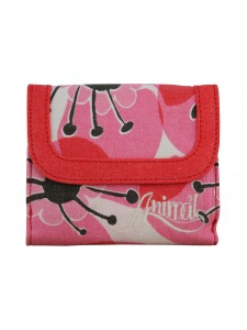 Animal Barb Ladies Canvas Wallet Azalea
