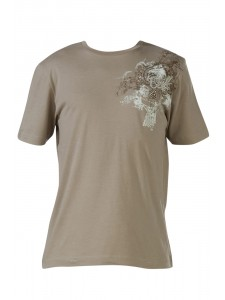 O'Neill Spades Mens T Shirt In Tan Front