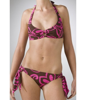 Roxy Happy Hawaiian Fushia Bikini