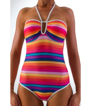 Roxy Multico Stripes One Piece (Multi)