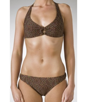 Roxy Dots Scooter Bikini In Coffee
