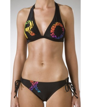 Roxy Rebal 70's Bikini In Black