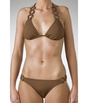 Roxy Solar Eclipse Bikini In Coffee