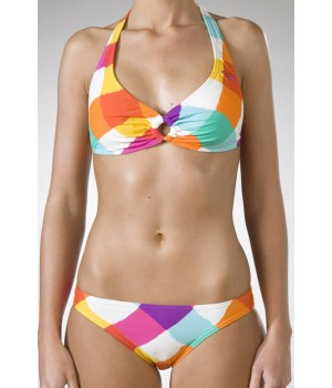 Roxy Born 2 Be Wild Scooter Bikini In Orange