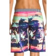 Roxy Sunset Stripe Black Shorts Back