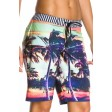 Roxy Sunset Stripe Black Shorts Side